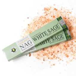 Golden Nag Masala Incense - White Sage   Himalayan Salt Factory