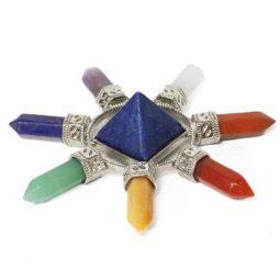Lapis Lazuli Crystal Chakra Wheel | Himalayan Salt Factory