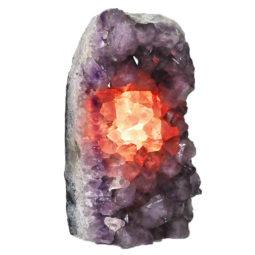 Natural Amethyst Crystal Lamp DN327   Himalayan Salt Factory