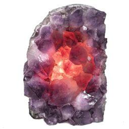 Natural Amethyst Crystal Lamp DN334   Himalayan Salt Factory
