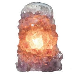 Natural Amethyst Crystal Lamp DN335   Himalayan Salt Factory