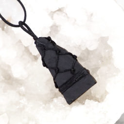 Natural Black Tourmaline Netted Necklace P008 | Himalayan Salt Factory
