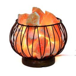 Orange Calcite Rough Amore Lamp | Himalayan Salt Factory