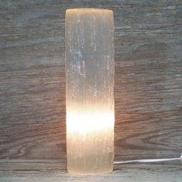 Selenite Cylinder Lamp 30cm | Himalayan Salt Factory