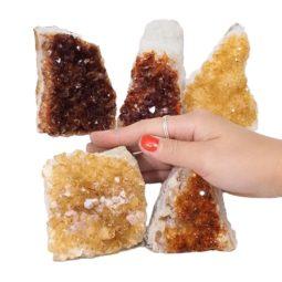 Citrine Mini Cluster Specimen Set N680 | Himalayan Salt Factory