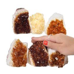 Citrine Mini Cluster Specimen Set N687 | Himalayan Salt Factory